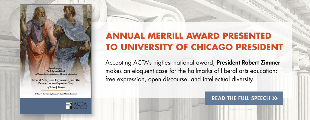 Annual Merrill Award Presented to University of Chicago President